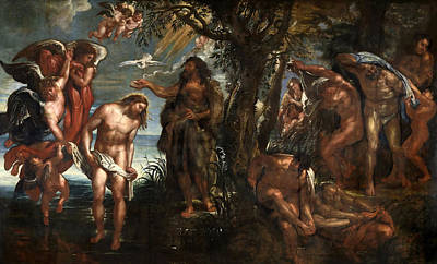 Baptism Of Christ Painting - The Baptism Of Christ by Peter Paul Rubens