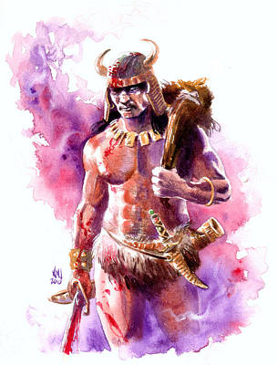 Barbarian Painting - The Barbarian by Ken Meyer jr