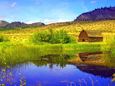 The Barn And The Pond Print by Tara Turner
