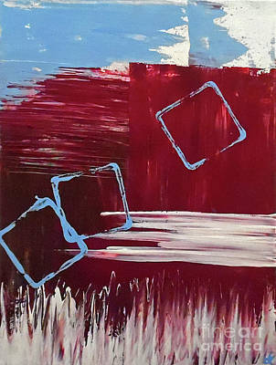 Abstract Handbag Painting - The Barn Door by Jilian Cramb - AMothersFineArt