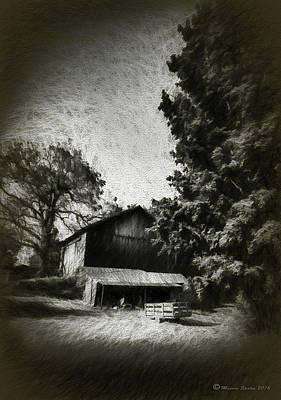 The Barn Yard Wagon Print by Marvin Spates