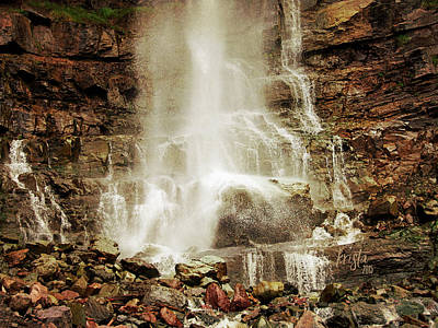 The Base Of Cascade Falls Print by Krista-