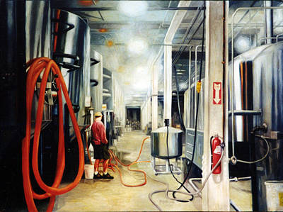 Painting - The Bashful Brewer by Gregg Hinlicky