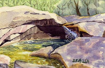 Franconia Notch Painting - The Basin by Sharon E Allen