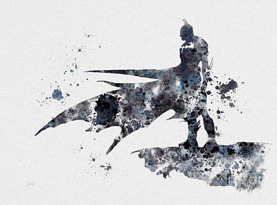 Batman Mixed Media - The Bat by Rebecca Jenkins