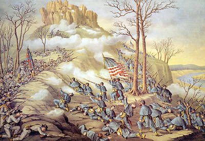 History Of Tennessee Photograph - The Battle Of Lookout Mountain by Everett