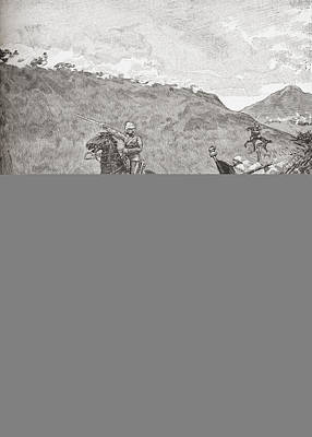 South Africa Drawing - The Battle Of Majuba Hill, South Africa by Vintage Design Pics