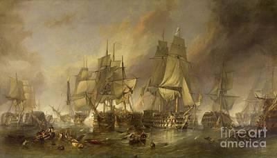 Trafalgar Painting - The Battle Of Trafalgar by William Clarkson Stanfield