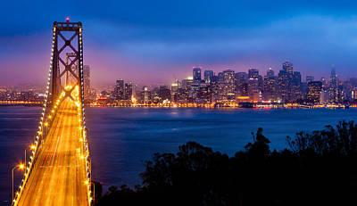 Bay Bridge Photograph - The Bay Bridge by Alexis Birkill