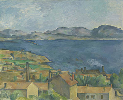 Rooftops Painting - The Bay Of Marseille by Paul Cezanne
