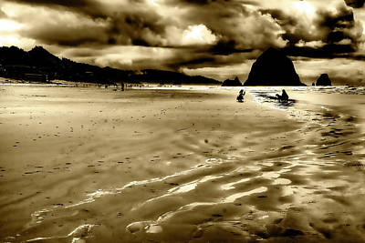 Ocean Photograph - The Beach At Dusk II by David Patterson