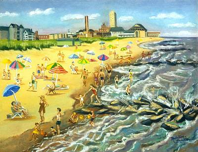 The Beach At Ocean Grove Original by Madeline  Lovallo