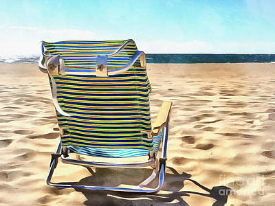 The Beach Chair 2 Print by Edward Fielding