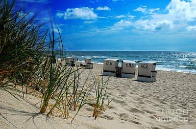The Beach Print by Hannes Cmarits