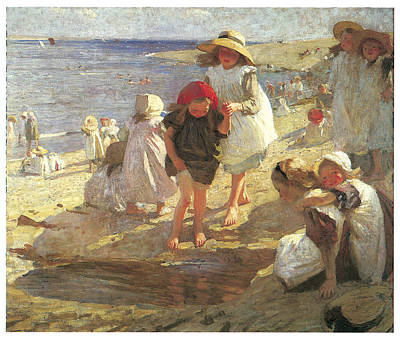 The Beach Print by Laura Knight