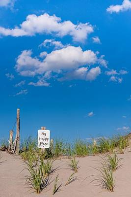 The Beach My Happy Place  Print by Terry DeLuco