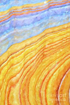 Curves Digital Art - The Beach by Tim Gainey
