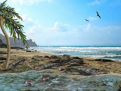 The Beach Print by Tony Rodriguez