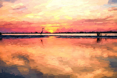 On The Beaches Of South Walton Print by JC Findley