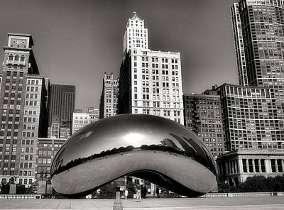 Chicago Skyline Photograph - The Bean - 3 by Ely Arsha