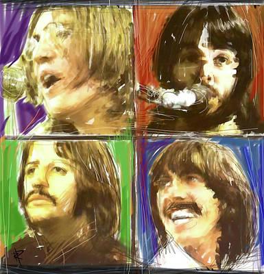 Music Digital Art - The Beatles - Let It Be by Russell Pierce