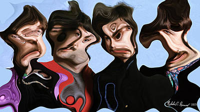 The Beatles A La Pablo 1 Print by Nicholas Romano