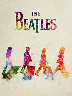 The Beatles - Abbey Road Print by Aged Pixel