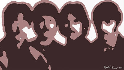 The Beatles Abstraction 1 Print by Nicholas Romano