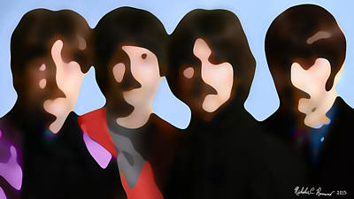 The Beatles Abstraction 2 Print by Nicholas Romano