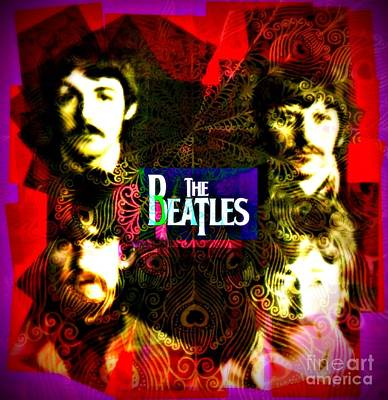 Fab Four Digital Art - The Beatles by Kevin Moore