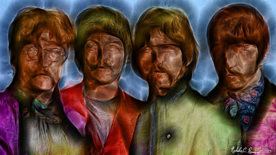 The Beatles Muted Dust 1 Print by Nicholas Romano