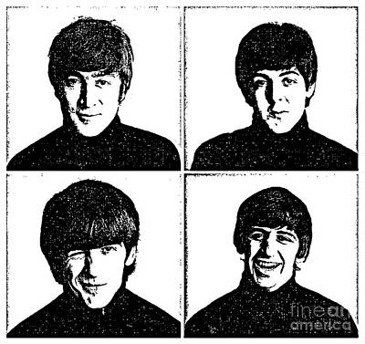 Illusttation Digital Art - The Beatles No.13 by Caio Caldas