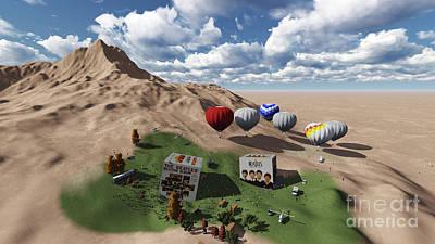 Music Digital Art - The Beatles Oasis On Desert by Pablo Franchi