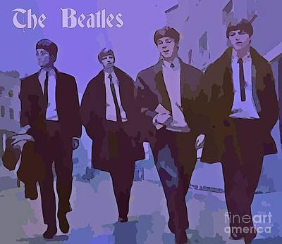 Fab Four Digital Art - The Beatles Poster by John Malone