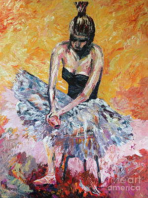 Overcoming Painting - The Beautiful Dancer by Robert Yaeger