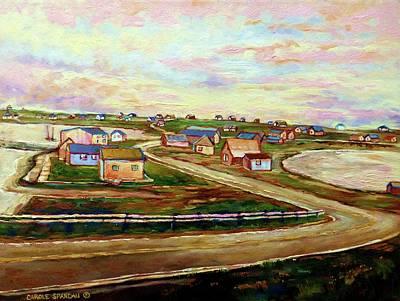 Early California Landscape Painting - The Beautiful Skies Of Prince Edward Island by Carole Spandau