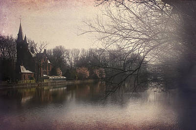 The Beauty Of Brugge Print by Carol Japp