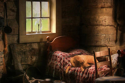 Old Cabins Mixed Media - The Bed Warmer by Lori Deiter