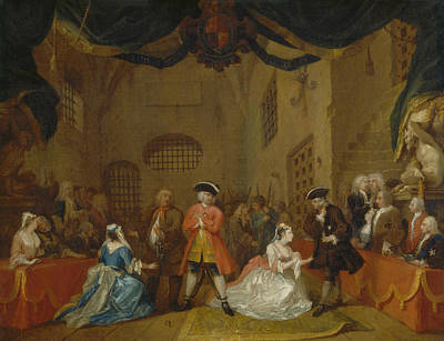 18th Century Painting - The Beggar's Opera by William Hogarth