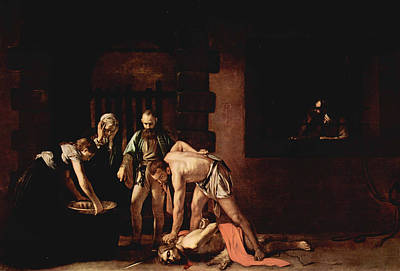 Beheading Painting - The Beheading Of Saint John The Baptist by MotionAge Designs
