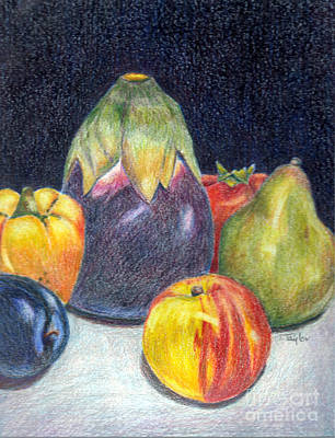 Tomato Drawing - The Best Of Summer by Terry Taylor