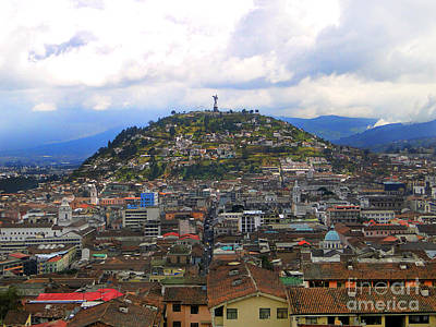 The Best View In Quito II Print by Al Bourassa