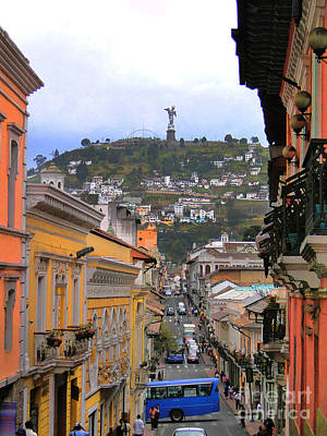 The Best View In Quito IIi Print by Al Bourassa