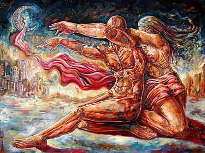 Contemporary Surrealism Drawing - The Betrayal by Darwin Leon