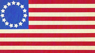 Old Glory Mixed Media - The Betsy Ross Flag by Dan Sproul