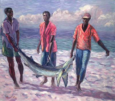 African-american Painting - The Big Catch by Carlton Murrell
