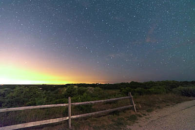 The Big Dipper Over The Lights Of Provincetown Ma Print by Toby McGuire