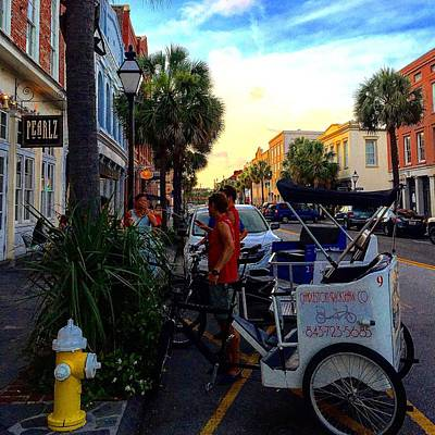 Photograph - The Bike Carriages Of Charlestonsc  by C F  Legette
