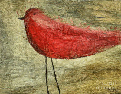 Felt Mixed Media - The Bird - Ft06 by Variance Collections