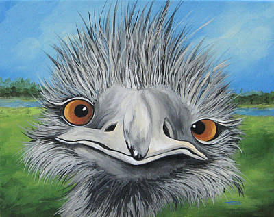 Emu Painting - The Bird 2011 by Torrie Smiley